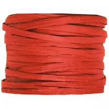 Bobine de raphia papier rouge 4mm x 20m (x1) REF/2637