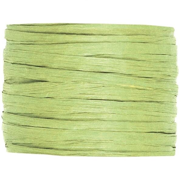 Bobine de papier raphia vert pour decoration