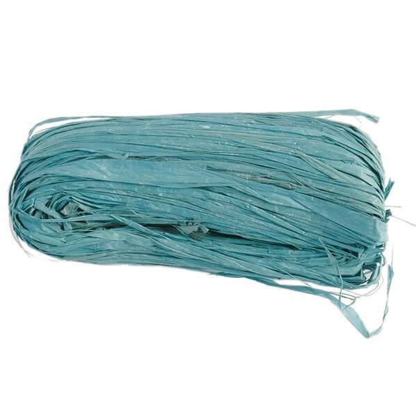 Bobine de raphia bleu turquoise