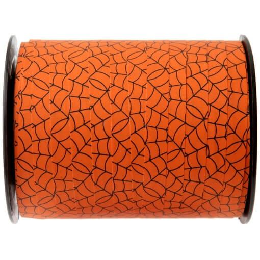 Bobine de ruban bolduc orange pour decoration halloween