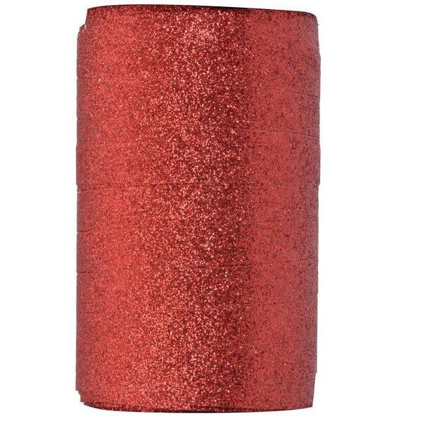 Bobine de ruban bolduc paillete rouge