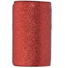 Bolduc pailleté rouge, 10mm x 50m (x1) REF/3405