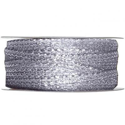 Bobine ruban décoratif métallique argent 3mm x 25m (x1) REF/2544