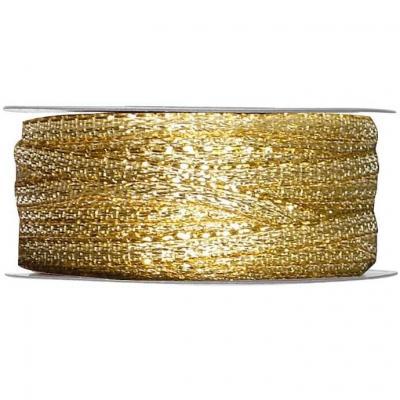 Bobine ruban décoratif métallique doré 3mm x 25m (x1) REF/2544