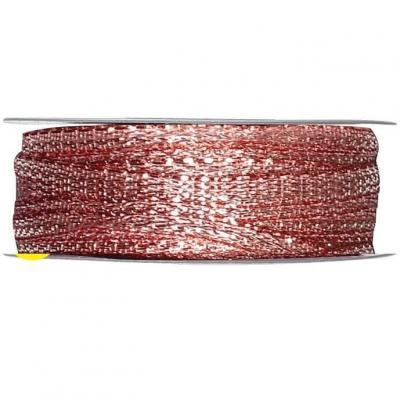 Bobine ruban décoratif métallique rose gold 3mm x 25m (x1) REF/2544