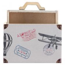 Contenant valise à dragées voyage tour du monde (x2) REF/7374