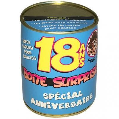 Boîte cadeau surprise anniversaire 18ans homme (x1) REF/BT18H