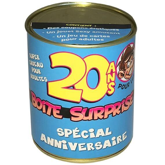 Boite cadeau anniversaire 20ans coquin pour homme