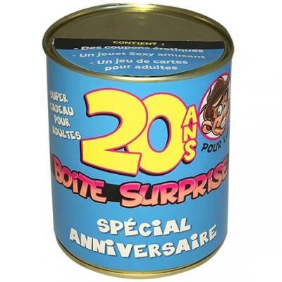 Boîte cadeau surprise anniversaire 20ans homme (x1) REF/BT20H