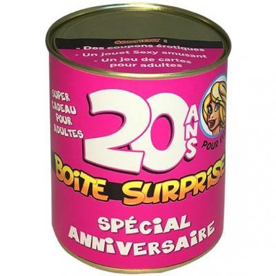 Boîte cadeau surprise anniversaire 20ans femme (x1) REF/BT20F
