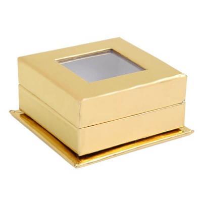 Boîte carrée or avec fenêtre (x4) REF/70213