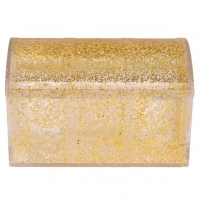 Boîte coffret pailletée or (x1) REF/4704