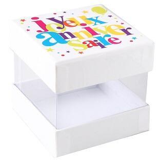 Boîte joyeux anniversaire festif (x4) REF/4795