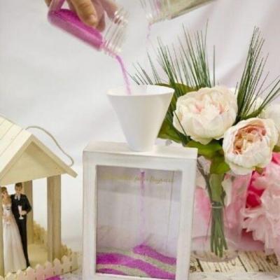 Boîte mariage pour la cérémonie du sable (x1) REF/DEK0520