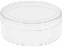 Boite ronde dragee transparent