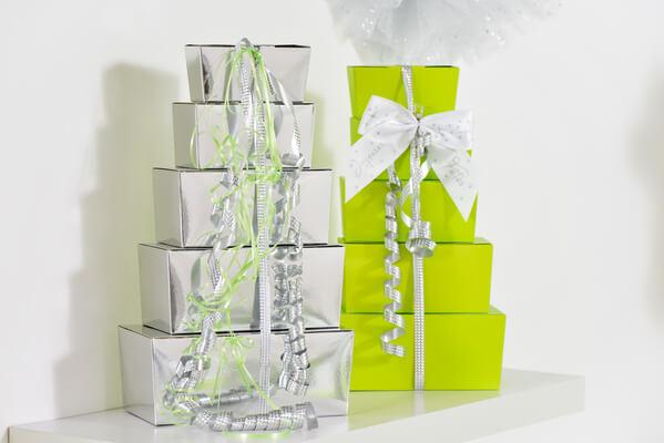 Bolduc argent pour emballage cadeaux