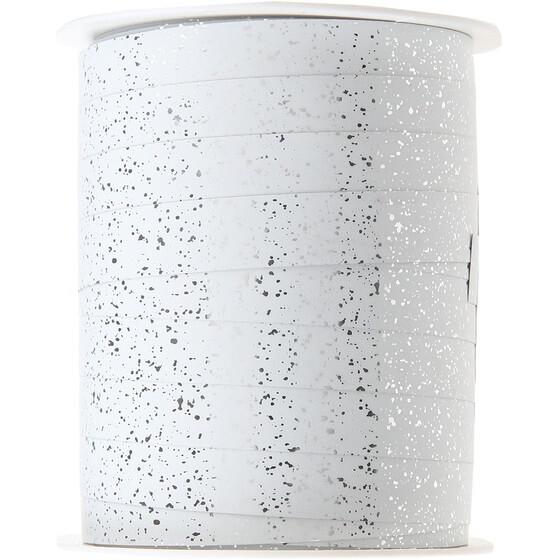 Bolduc festif blanc metallise