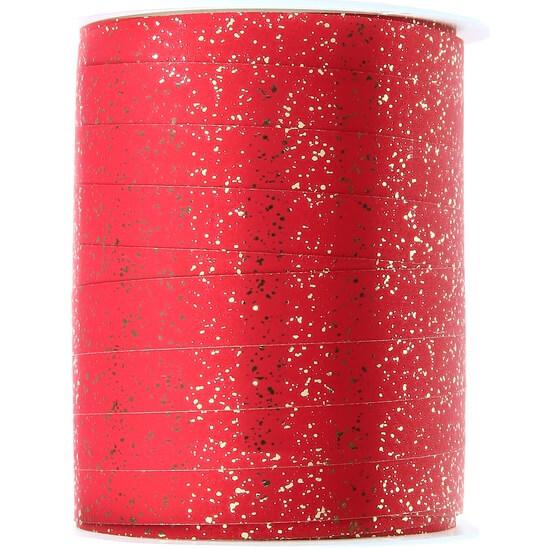Bolduc festif rouge metallise