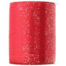 Ruban bolduc festif métallisé rouge 10mm x 25m (x1) REF/4719