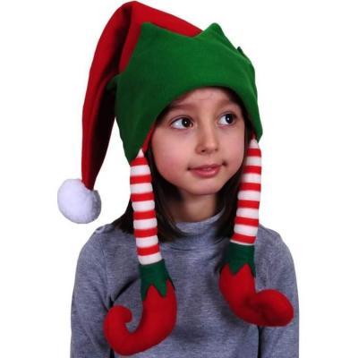 Bonnet de Noël pour enfant avec style Lutin vert et rouge (x1) REF/NEDZ213
