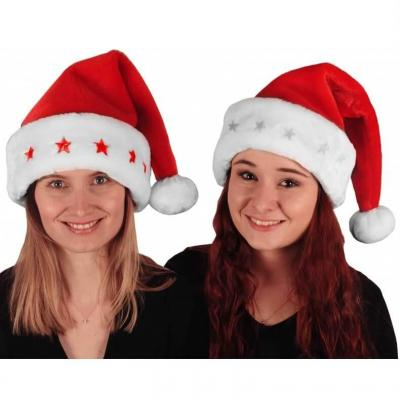 Bonnet de Noël adulte avec fourrure douce et étoiles lumineuses (x1) REF/NUH427L
