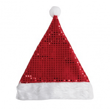 Bonnet de père noël sequins rouges (x1) REF/58590