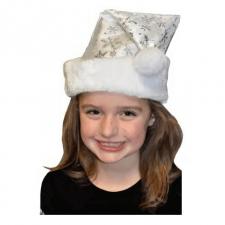 Bonnet de Noël enfant blanc et flocon (x1) REF/NEUS156