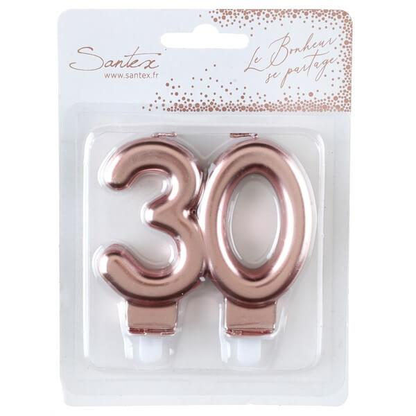 Bougie 30 ans rose gold