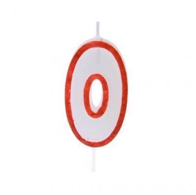 Bougie anniversaire rouge 0 (x1) REF/BGA1200/0