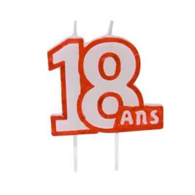 Bougie anniversaire 18ans (x1) REF/BGA1104/18