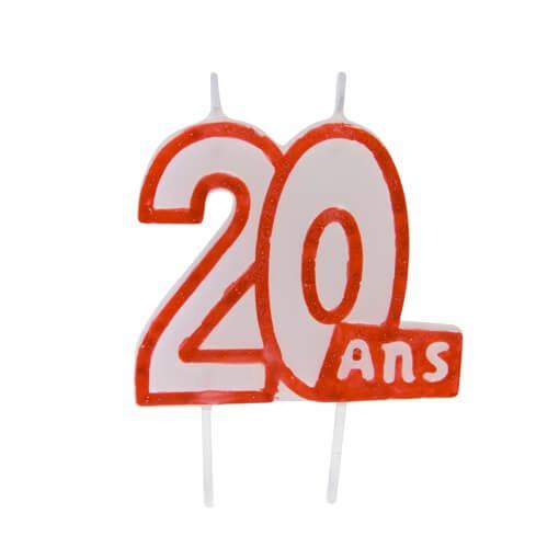 Bougie anniversaire 20ans 3