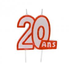 Bougie anniversaire 20ans (x1) REF/BGA1104/20