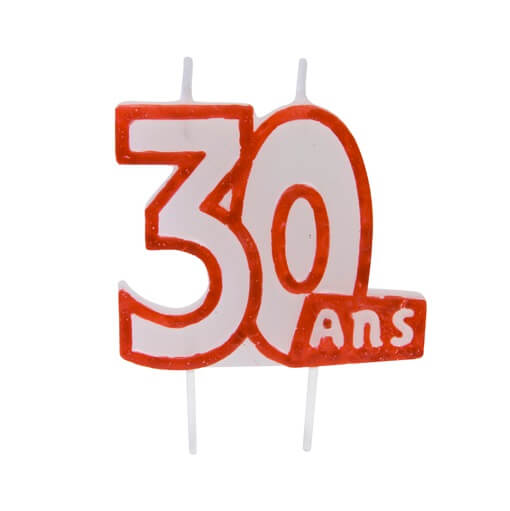 Bougie anniversaire 30ans 2
