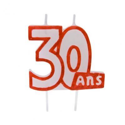 Bougie anniversaire 30ans (x1) REF/BGA1104/30