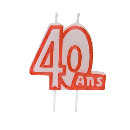 Bougie anniversaire 40ans 3