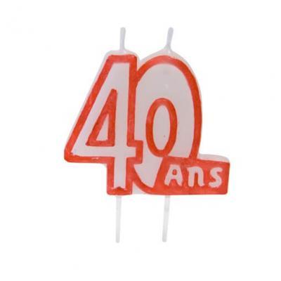 Bougie anniversaire 40ans (x1) REF/BGA1104/40