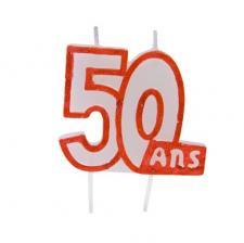 Bougie anniversaire 50ans (x1) REF/BGA1104/50