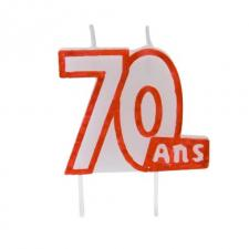 Bougie anniversaire 70ans (x1) REF/BGA1104/70
