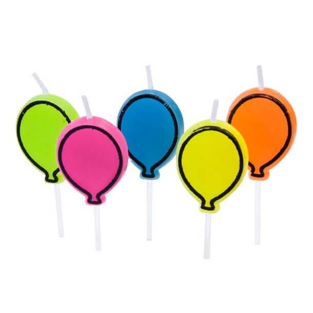 Bougie anniversaire ballon