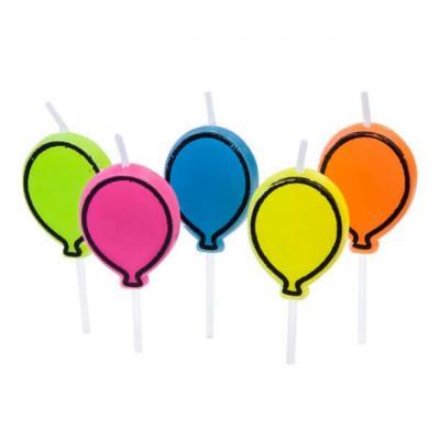 Bougie ballon multicolore (x5) REF/BGA1002