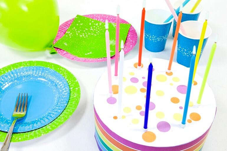 Bougie anniversaire bleu turquoise