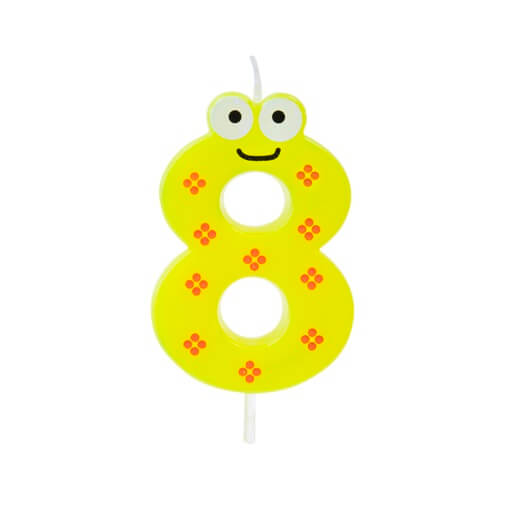 Bougie anniversaire chiffre 8