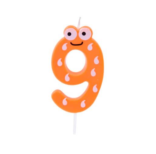 Bougie anniversaire chiffre 9