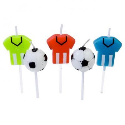 Bougie football (x5) REF/BGA1001