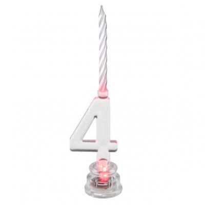 Bougie anniversaire lumineuse chiffre 4 (x1) REF/5861