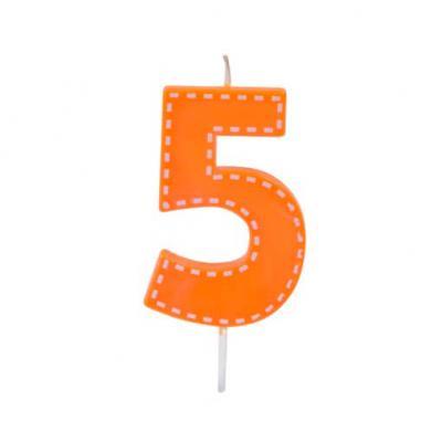 Bougie anniversaire orange 5ans (x1) REF/BGA1201