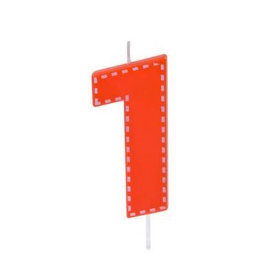 Bougie anniversaire rouge 1an (x1) REF/BGA1201