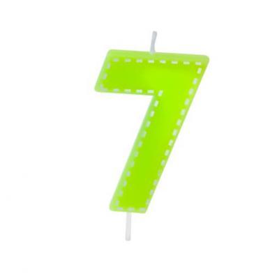 Bougie anniversaire verte 7ans (x1) REF/BGA1201