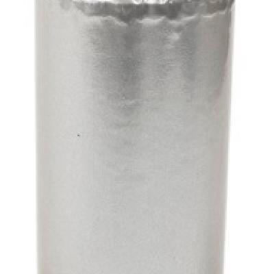 Grande bougie argent métallique 12cm x 5cm (x1) REF/BG065