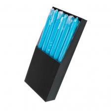 Bougie flambeau bleu turquoise (x1) REF/BG011